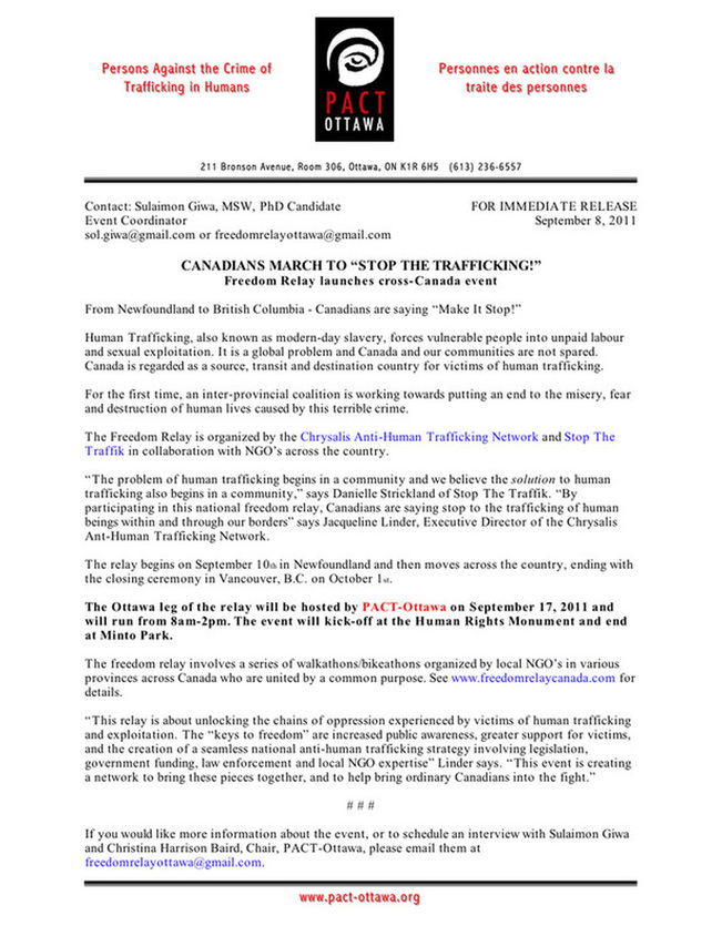Press Release Sept 08 2011